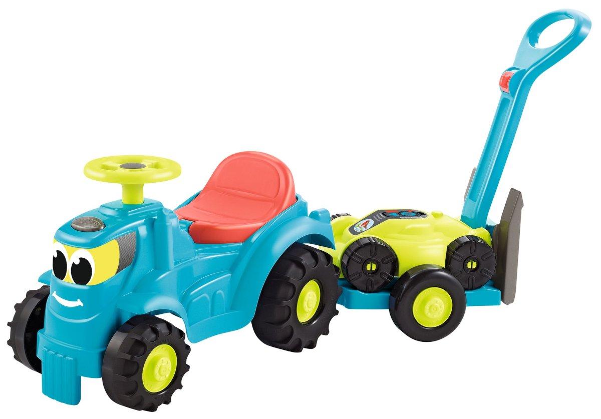 Ecoiffier Odrážedlo Traktor s vlekem a sekačkou