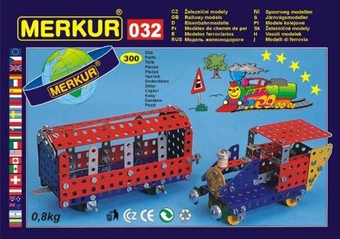 Merkur 032 Železniční modely, 300 dílů, 10 modelů