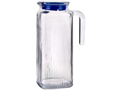 džbán skleněný 1000ml, plastové víčko