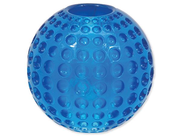 Hračka DOG FANTASY Strong míček gumový s důlky modrý 6,3 cm (1ks)