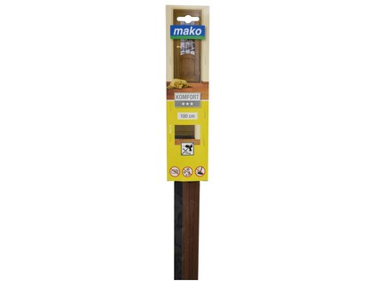 lišta pod dveře těsn. 98cm ořech MAKO