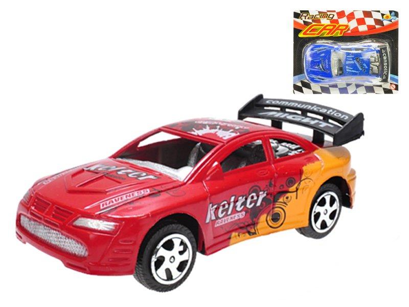Auto závodní 15 cm na setrvačník - mix barev